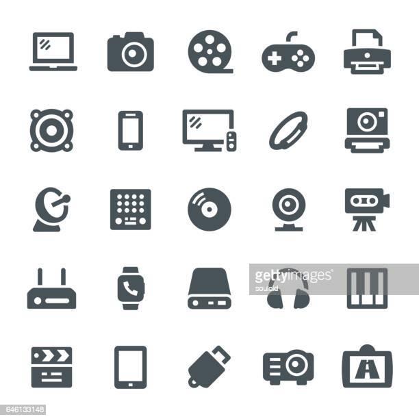multimedia icons - usb stick stock illustrations, clip art, cartoons, & icons