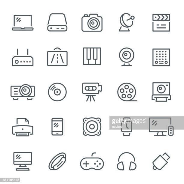 multimedia icons - fitness tracker stock illustrations, clip art, cartoons, & icons