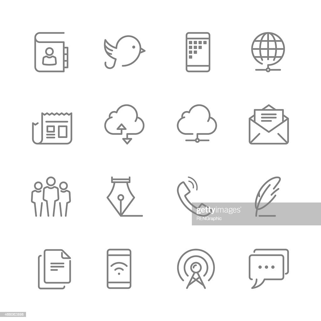 Multimedia icons with technology gadgets