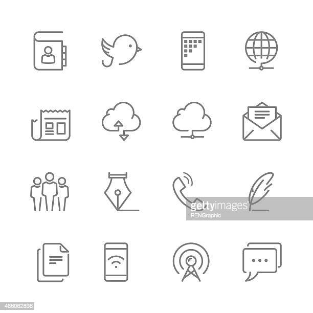 multimedia icons with technology gadgets - envelope stock illustrations, clip art, cartoons, & icons