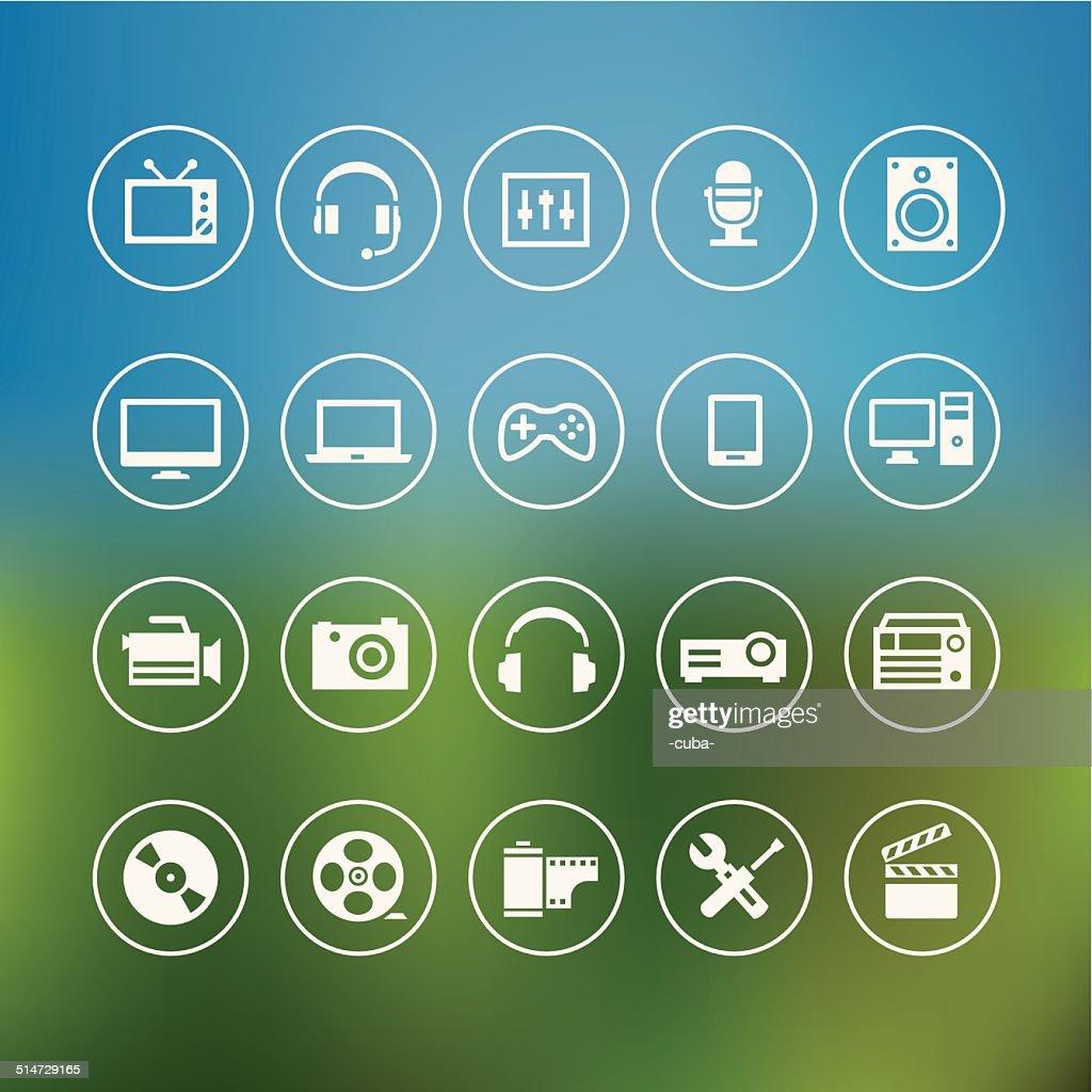 Multimedia Light Icons