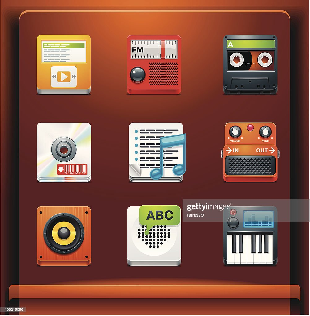 Multimedia. Mobile devices apps/services icons