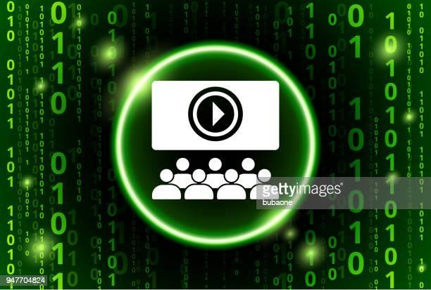 Multimedia Presentation Binary Code Vector Pattern Background