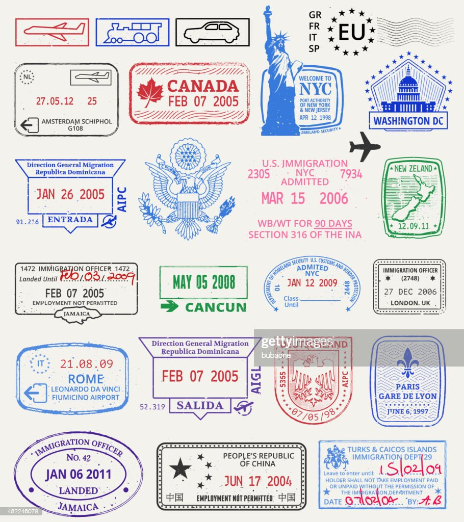 Multinational grunge stamps