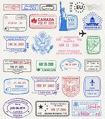 Multinational grunge stamps
