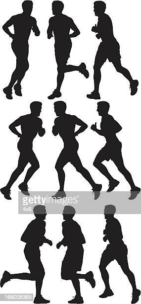 Multiple image of a man running