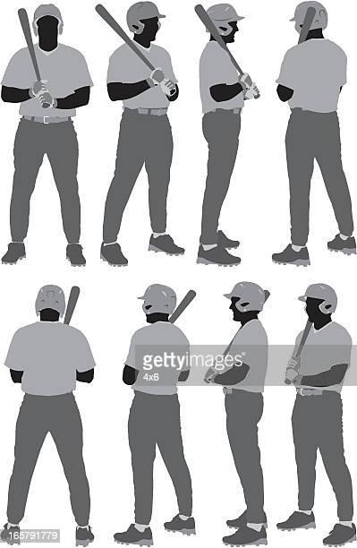 複数のイメージの野球選手 - 野球のユニフォーム点のイラスト素材/クリップアート素材/マンガ素材/アイコン素材