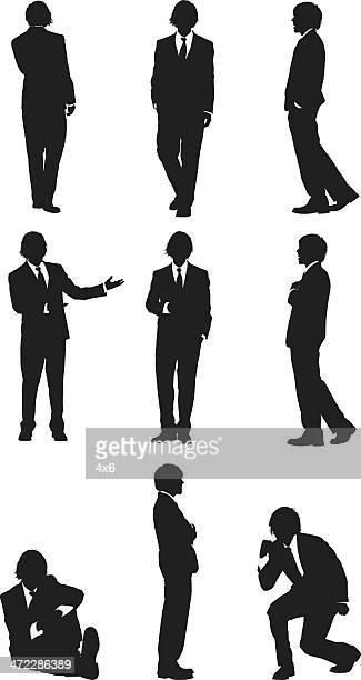 複数のイメージのビジネスマン身ぶり
