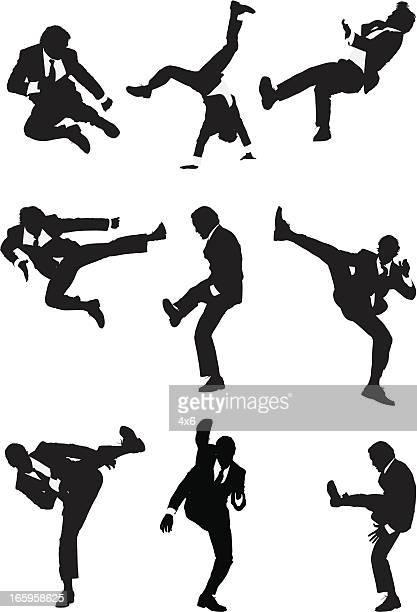 ilustrações de stock, clip art, desenhos animados e ícones de várias imagens de um empresário em acção - capoeira