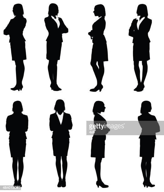 Multiple images of a businesswoman