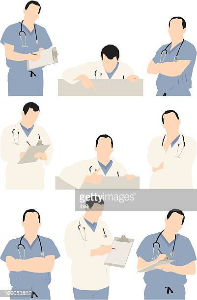 Multiple images of a doctor
