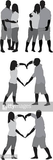 複数のイメージのロマンチックなカップル