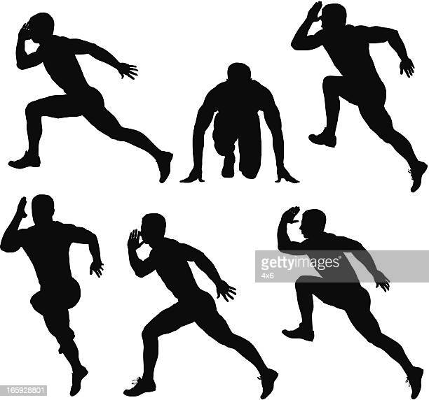 Multiple images of a runner