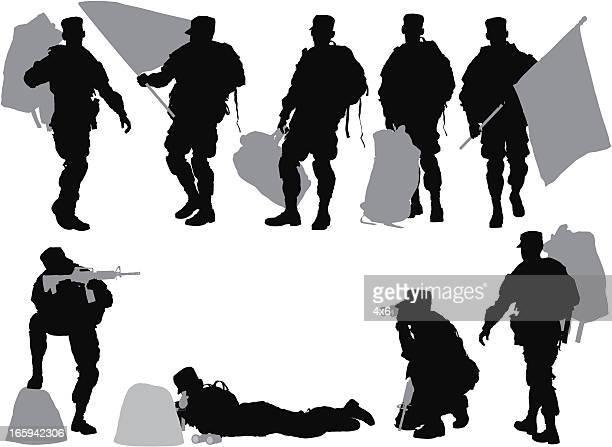 複数のイメージの兵士 - 巨礫点のイラスト素材/クリップアート素材/マンガ素材/アイコン素材