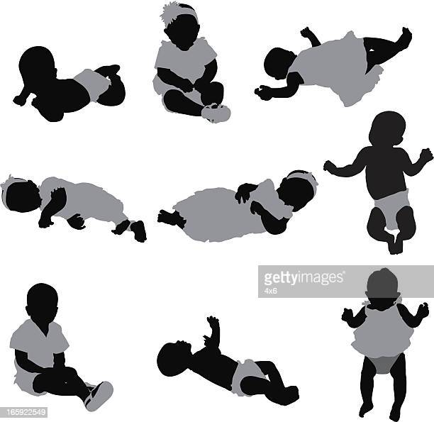 ilustraciones, imágenes clip art, dibujos animados e iconos de stock de múltiples imágenes de bebés - obesidad infantil