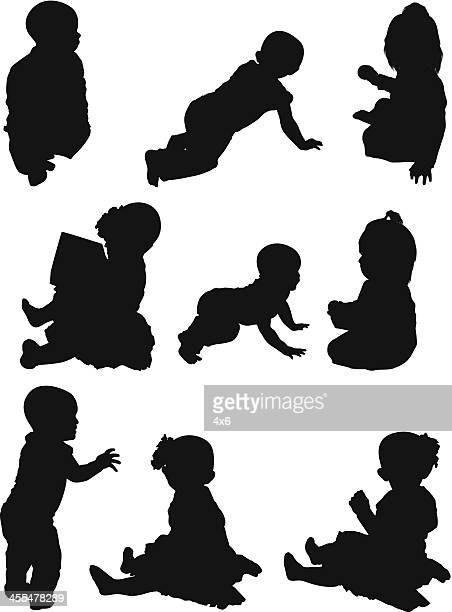 Multiple images of babies