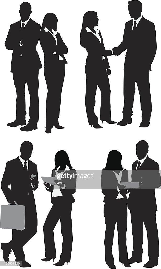 Multiple images of business people : Stockillustraties
