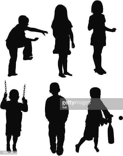 Multiple images of children playing