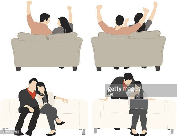 Multiple images of couple