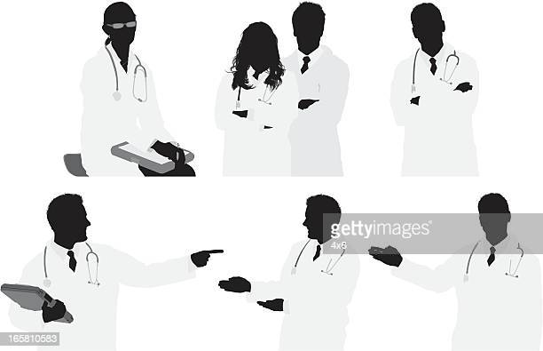Multiple images of doctors