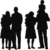 Multiple images of families