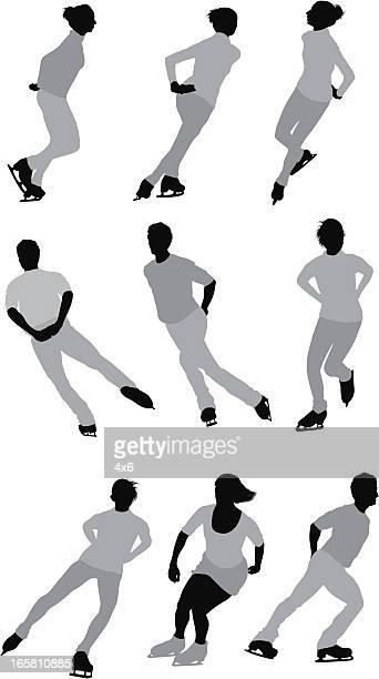 複数のイメージの人々スケート