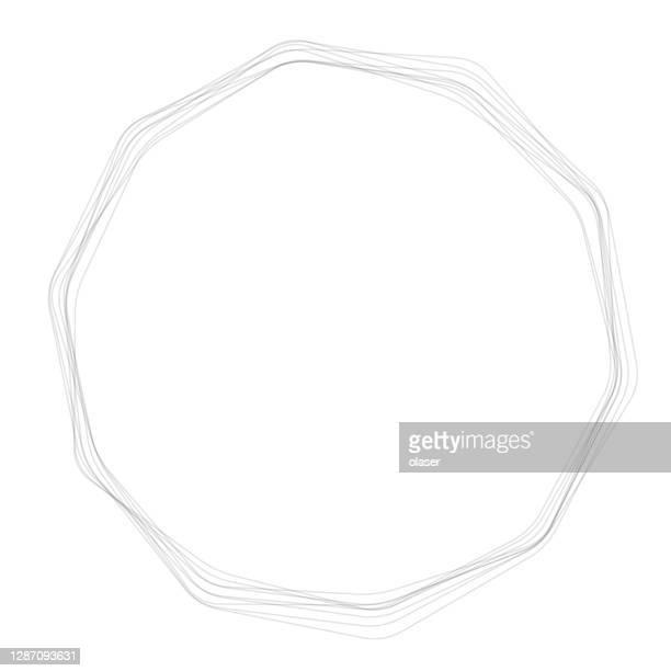 mehrere polygone, runde ecken, schöner handgezeichneter look - oval stock-grafiken, -clipart, -cartoons und -symbole
