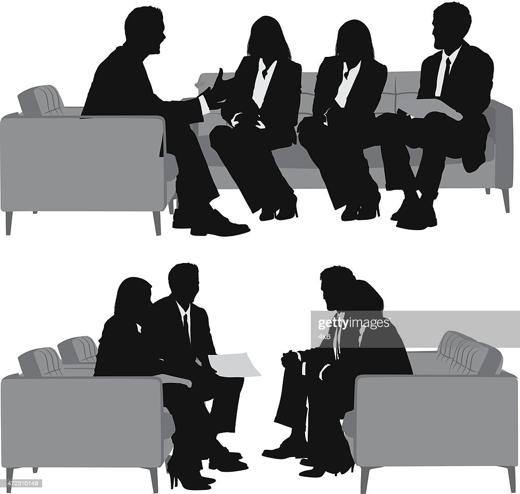 Multiple Silhouettes Of A Business Team Vector Art | Getty Images for Business People Silhouette Png  66pct