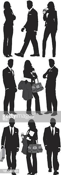mehrere silhouttes des business personen - full suit stock-grafiken, -clipart, -cartoons und -symbole