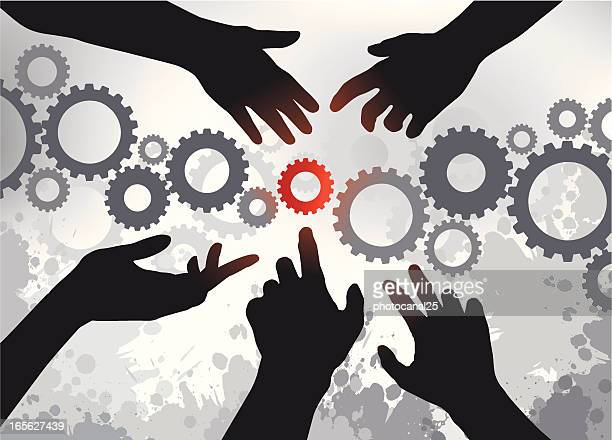 multiple solutions - co ordination stock illustrations