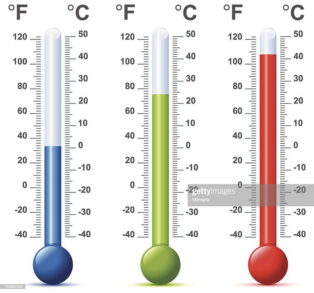 Multiple thermometers in different colors