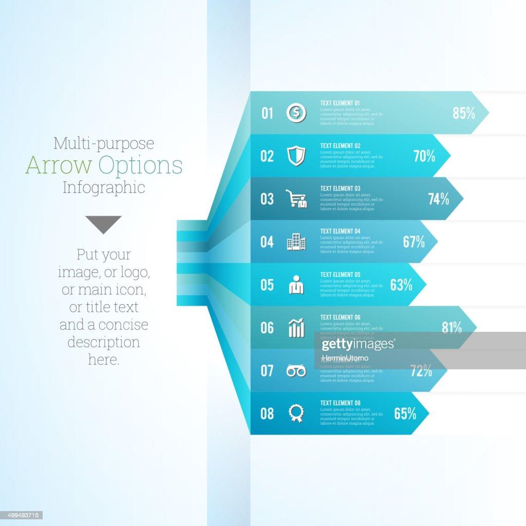 Multipurpose Arrow Option Infographic