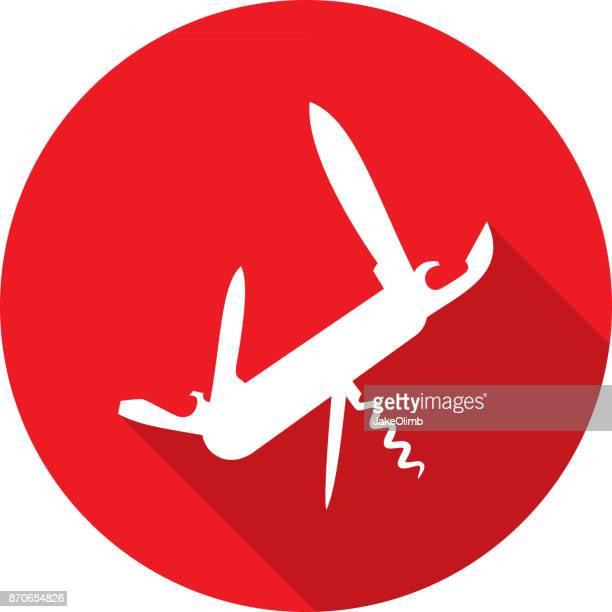 multipurpose knife icon silhouette - razor blade stock illustrations, clip art, cartoons, & icons