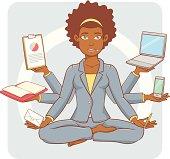 Multitasking Businesswoman