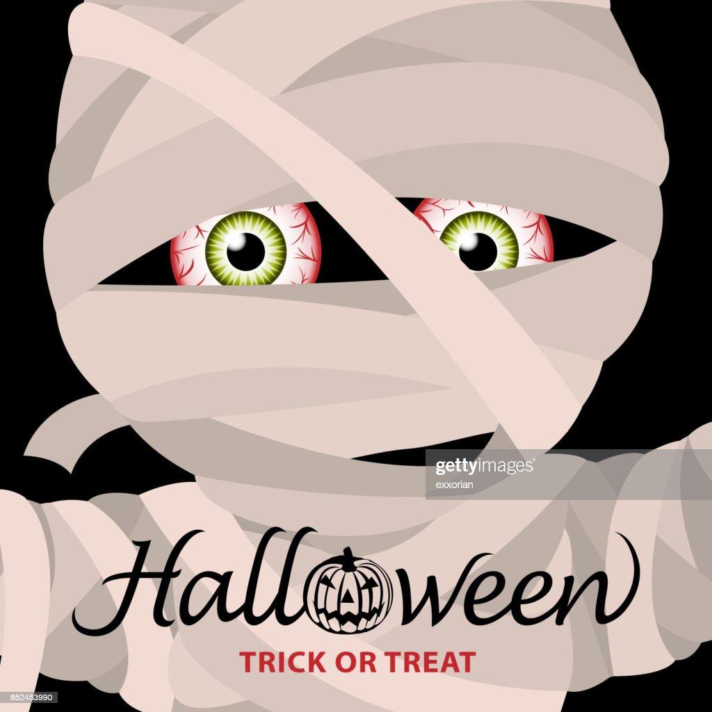 Mummy Halloween Party Invitation : stock illustration