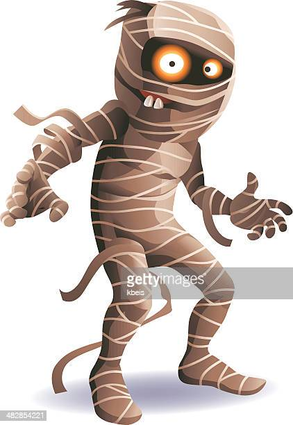 stockillustraties, clipart, cartoons en iconen met mummy - monster fictional character