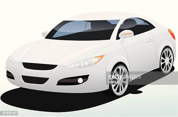 mumu silver concept car - vehicle hood stock illustrations, clip art, cartoons, & icons