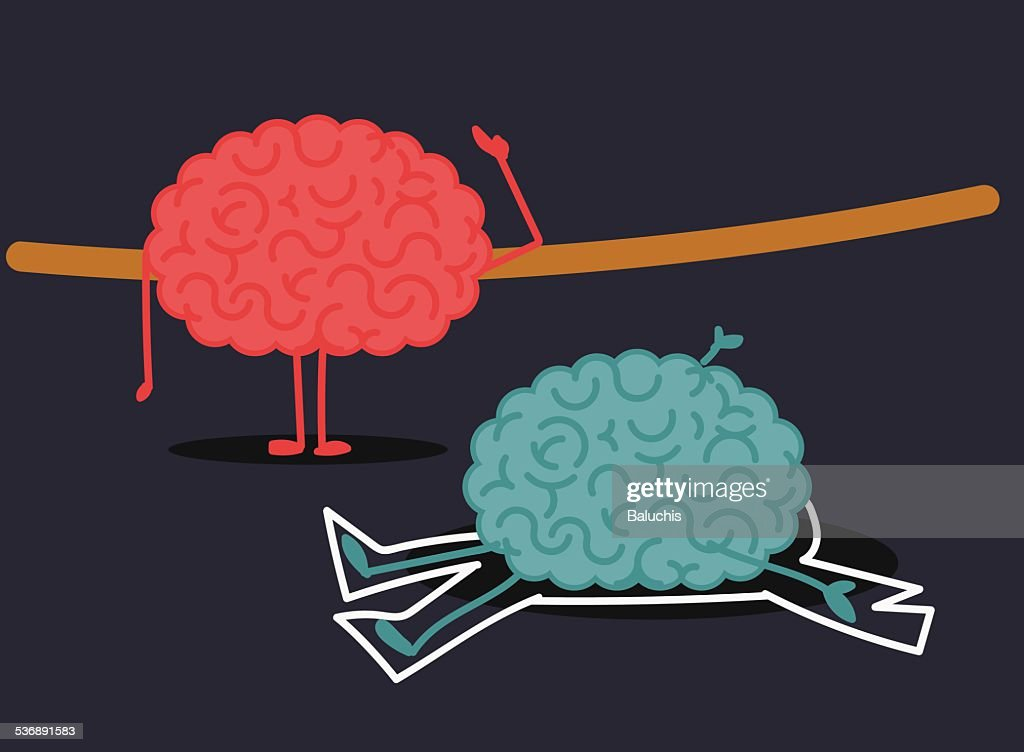 Murdered brain illustration