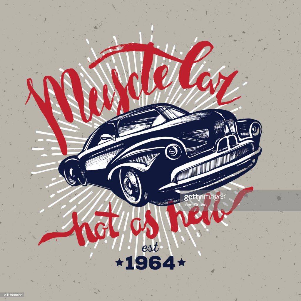 Muscle car. Retro classic