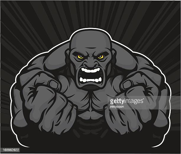 muscle man - body building stock illustrations, clip art, cartoons, & icons