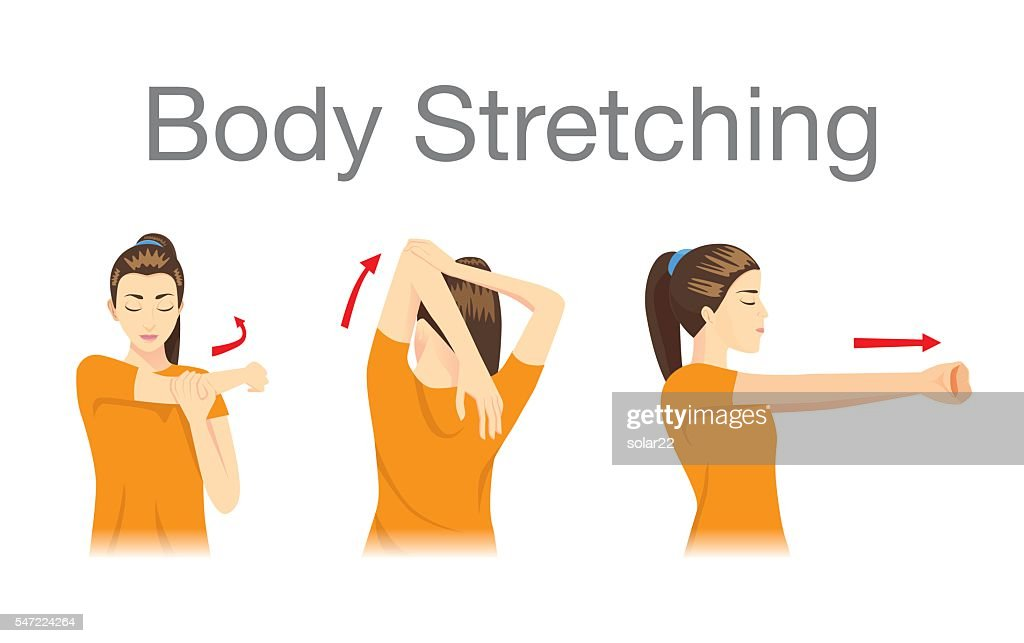 Muscles stretching posture.