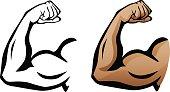 Muscular Arm Flexing Bicep Illustration