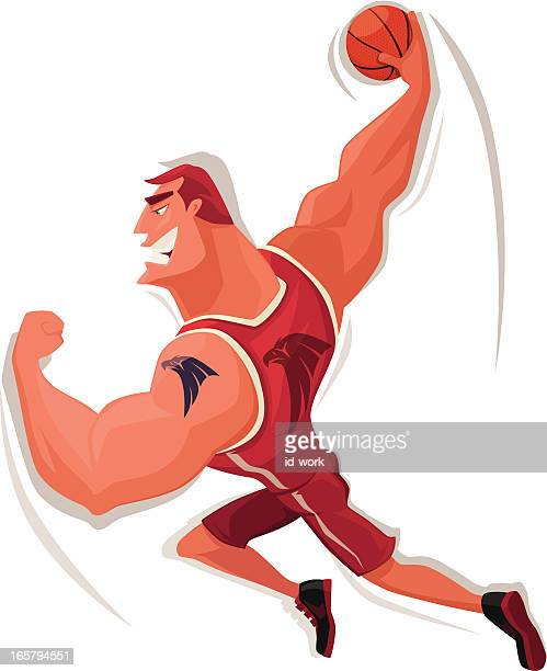muscular basketball player