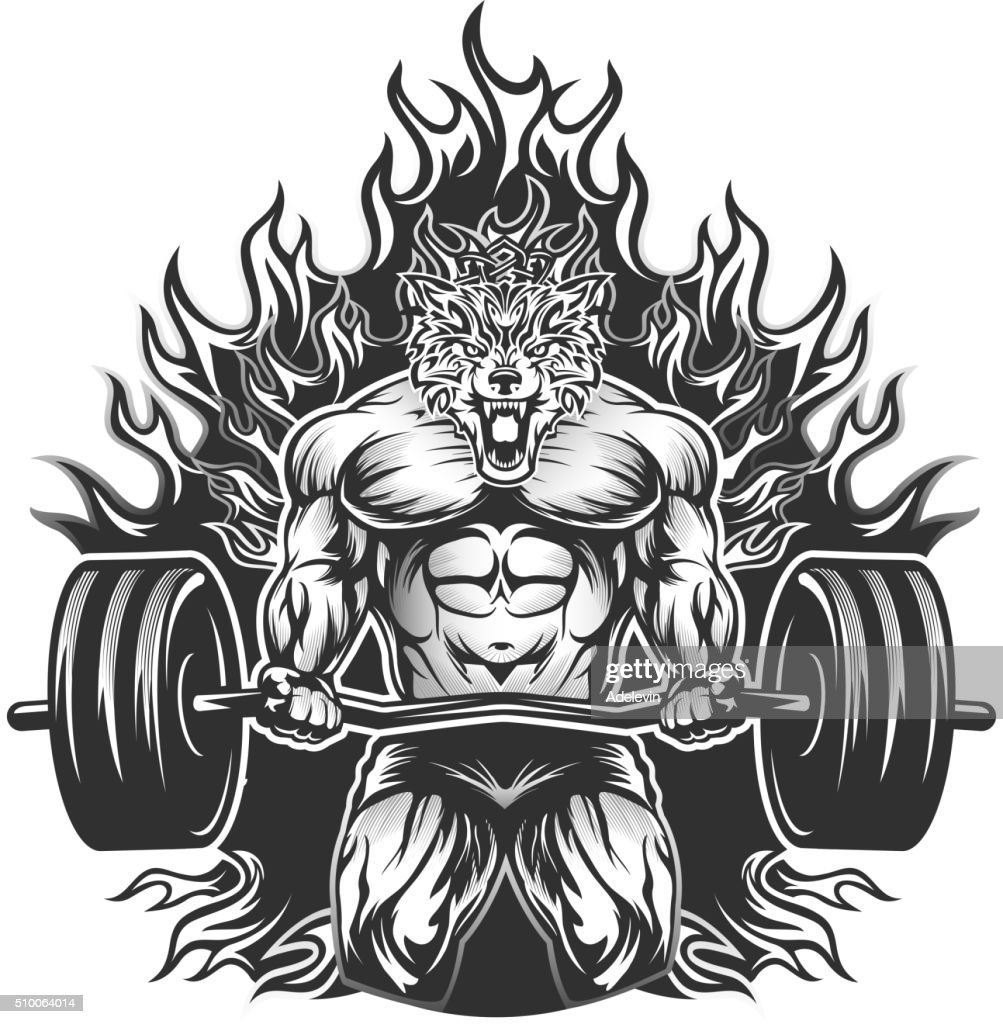 Muscular Bodybuilding Vector Art | Getty Images for Bodybuilding Graphic Design  568zmd