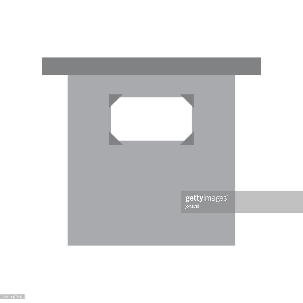 museum column isolated icon