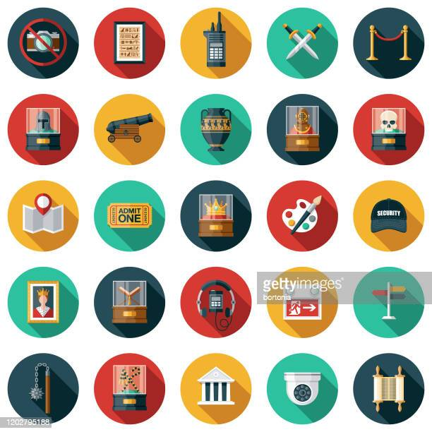 museum icon set - museum stock-grafiken, -clipart, -cartoons und -symbole