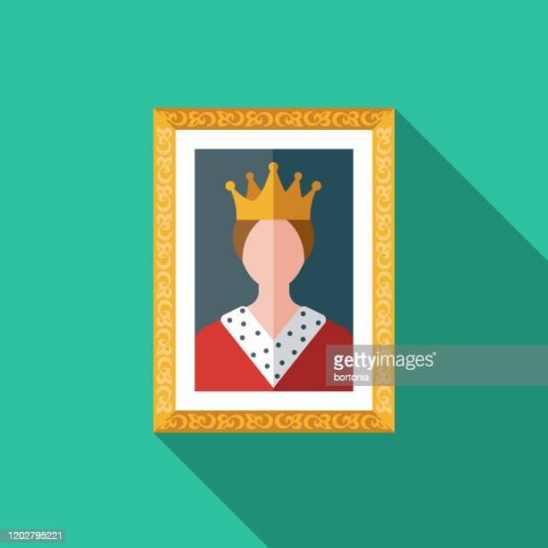 博物館の肖像アイコン - 女王点のイラスト素材/クリップアート素材/マンガ素材/アイコン素材