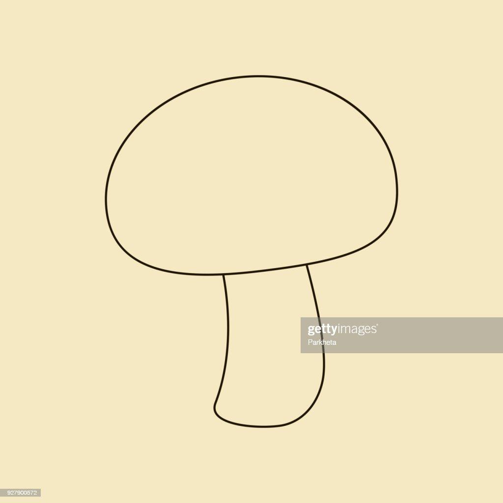 Mushroom champignon icon