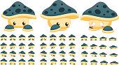 Mushroom Game Sprites