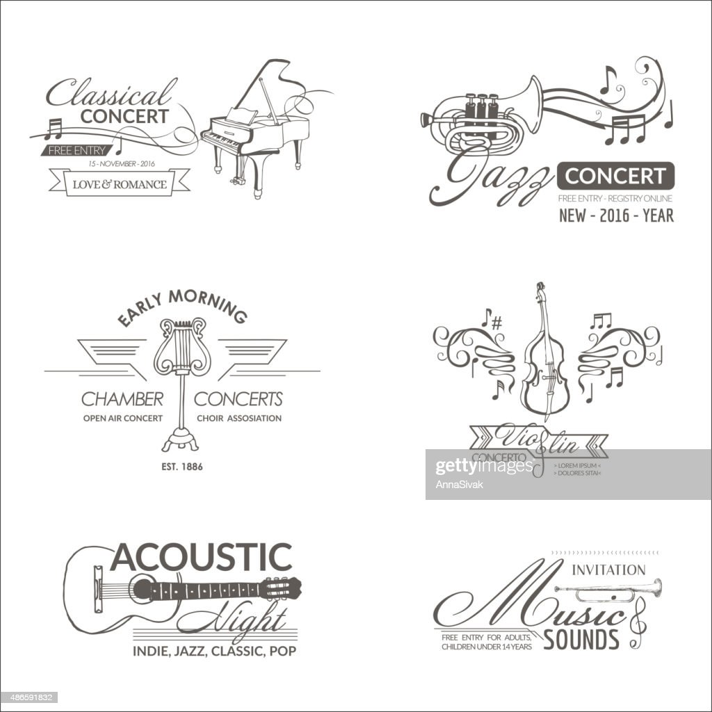 Music and Instruments - Labels, Badges, Identity, Logotypes